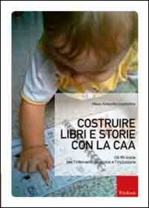 """copertina del libro """"costruire libri e storie con la caa"""""""
