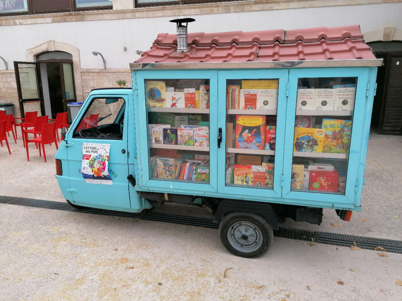 la libreria ambulante alla fiera