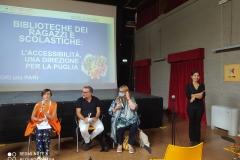 la presidente di AIB Puglia Lucia Di Palo introduce su biblioteche scolastiche