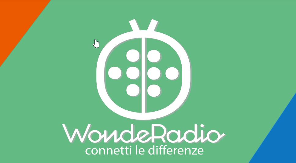 logo e slogan di WodeRadio: connetti le differenze